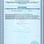 Свидетельство о государственной регистрации Артум Vision БАД
