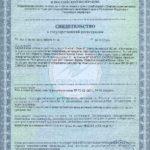 Свидетельство о государственной регистрации Бьюти Визион