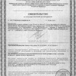 Свидетельство о государственной регистрации Юниор Би Хелси Р Vision
