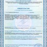 Свидетельство о государственной регистрации Медисоя Р Vision БАД
