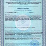 Свидетельство о государственной регистрации Сталон Нео Vision Бад