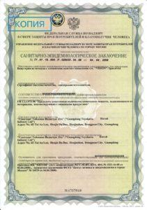 Свидетельство о государственной регистрации браслет Визион ПентАктив Нео