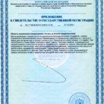 Свидетельство о государственной регистрации Хромвитал Р Vision БАД