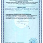 Свидетельство о государственной регистрации ДиРесет Визион свидетельство