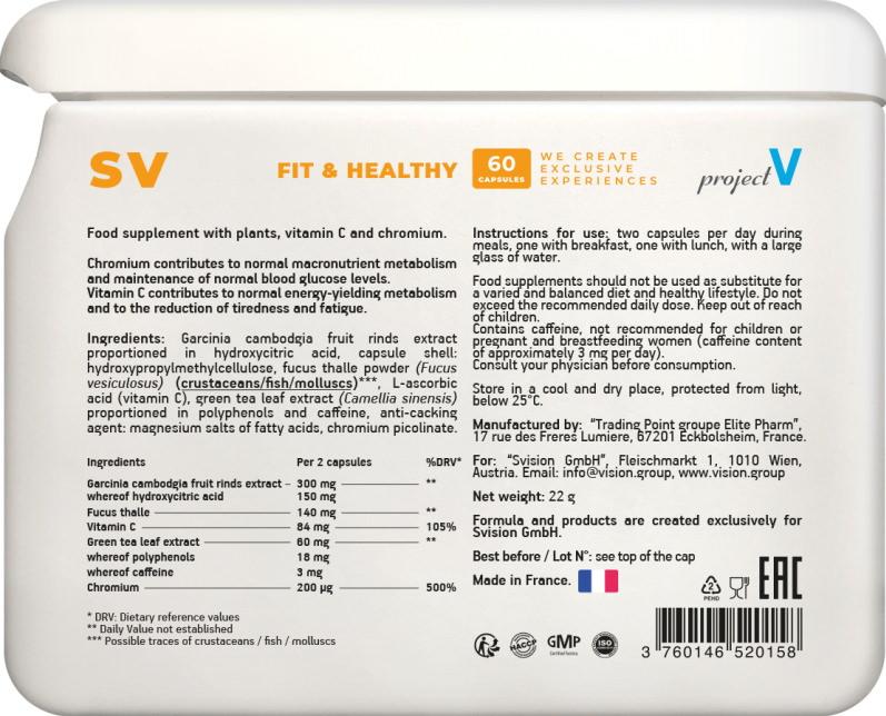 SV projectV etiketka