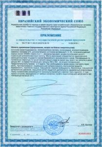 Свидетельство о государственной регистрации КардиоДрайв-Р Визион ДЕМ4Р приложение